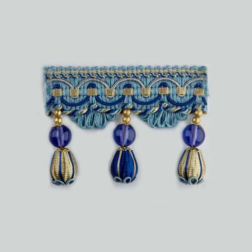 Фото бахромы с бубенчиками Gold Textil 4493-9987