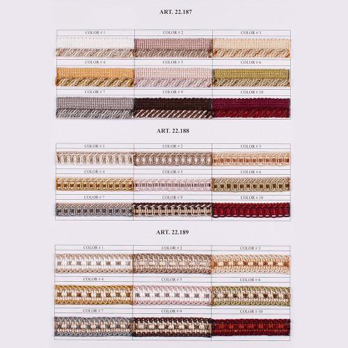 Фото тесьмы декоративной Gold Textil 22-188-6