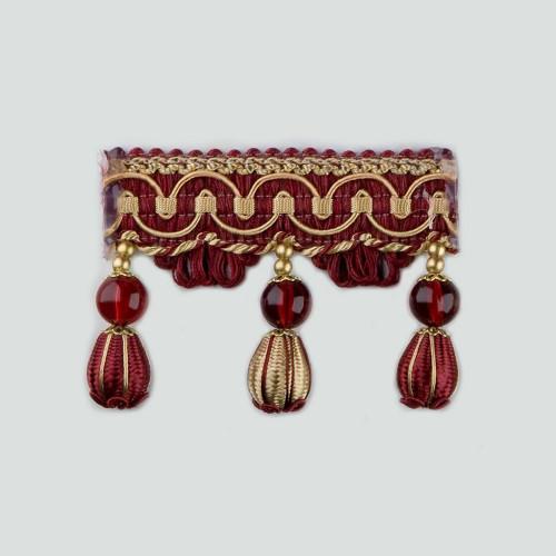 Фото бахромы с бубенчиками Gold Textil 4493-9990