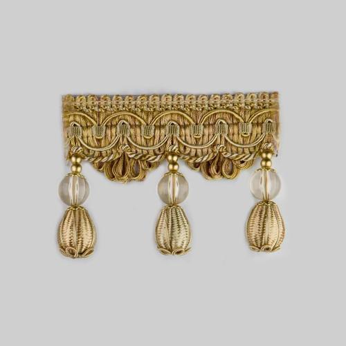 Фото бахромы с бубенчиками Gold Textil 4493-9963